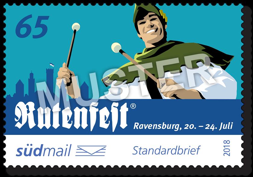 Sonderbriefmarke Ravensburger Rutenfest 2018 – Standardbrief – 10er Bogen