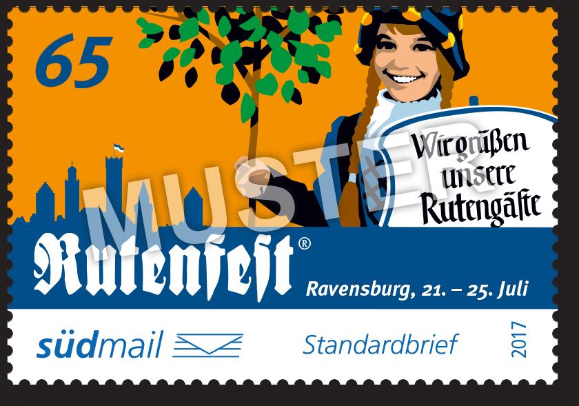 Sonderbriefmarke Ravensburger Rutenfest 2017 – Standardbrief – 10er Bogen