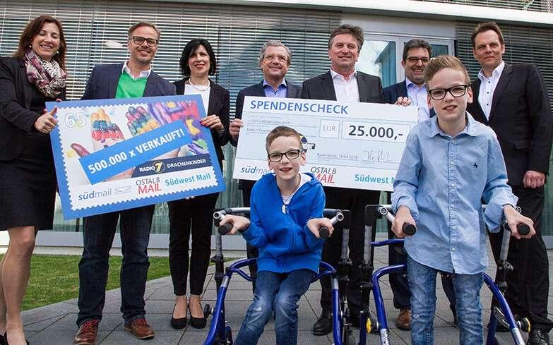 Südmail unterstützt benachteiligte Kinder mit 25 000 Euro
