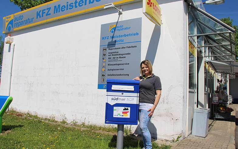 """Bei der OMV-Tankstelle gibt's jetzt eine """"Blaue Post"""""""