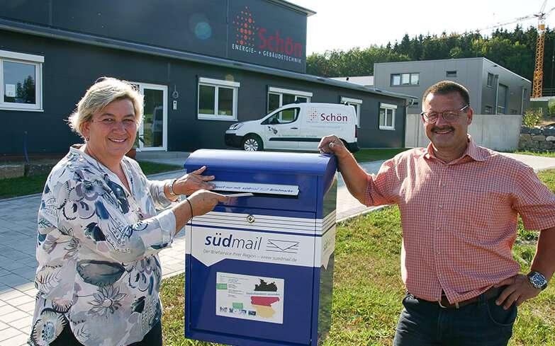 In Wolfegg steht der 350. südmail-Briefkasten