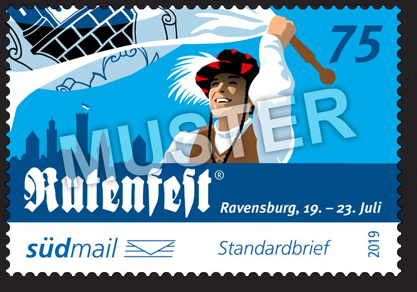 Sonderbriefmarke Ravensburger Rutenfest 2019 – Standardbrief – 10er Bogen