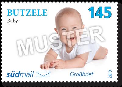 südmail Briefmarke Schwäbische Mundart Großbrief
