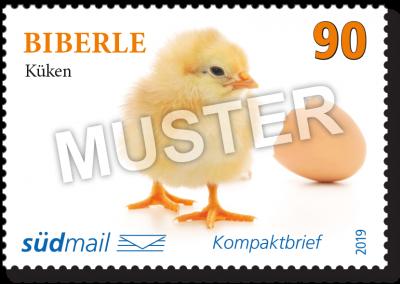 südmail Briefmarke Schwäbische Mundart Kompaktbrief