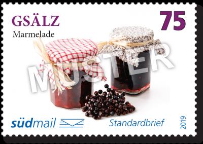 südmail Briefmarke Schwäbische Mundart Standardbrief