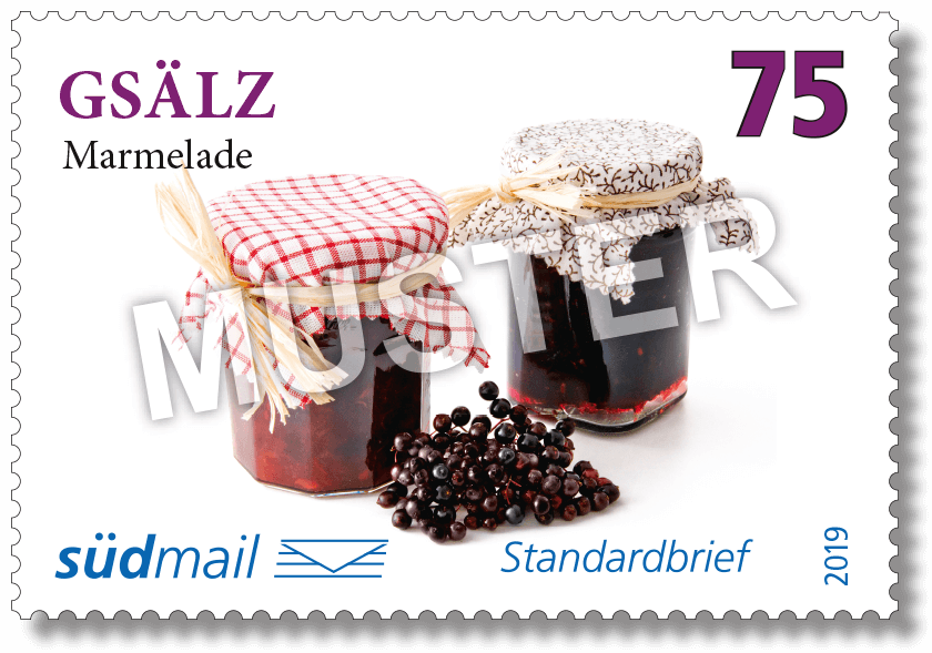 Markenserie Schwäbische Mundart – Standardbrief – 10er Bogen im Abonnement