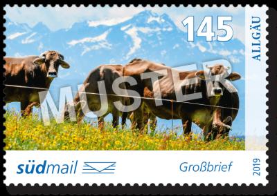südmail Briefmarke Unsere Heimat Großbrief