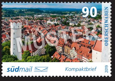 südmail Briefmarke Unsere Heimat Kompaktbrief