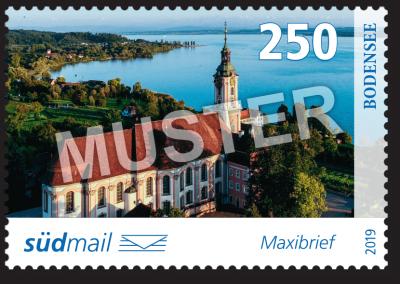 südmail Briefmarke Unsere Heimat Maxibrief