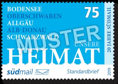 südmail Briefmarke Unsere Heimat Standardbrief