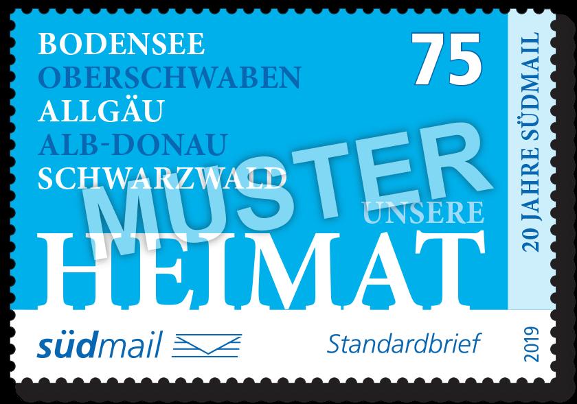 Markenserie Unsere Heimat – Standardbrief – 10er Bogen im Abonnement