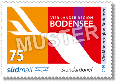 südmail Briefmarke Vierländerregion Standardbrief