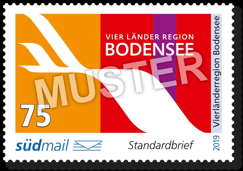 Sonderbriefmarke Vierländerregion Bodensee 2019 – Standardbrief – 10er Bogen